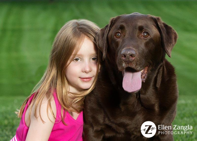 Photo of girl and her dog in Leesburg VA by Ellen Zangla Photography